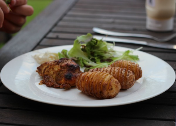 Tandoori chicken tray bake 1