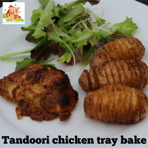 Tandoori chicken tray bake square
