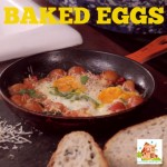 Basil and tomato baked eggs – cooking with kids